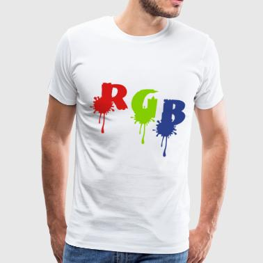 RGB  typo paint drop - Men's Premium T-Shirt