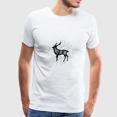 Wild and Free Outdoorsy Deer - Men's Premium T-Shirt
