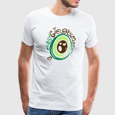 Avocado, vegan, health, wellness. - Men's Premium T-Shirt
