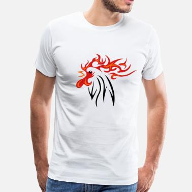 Fire Rooster Rooster 3 colors - Men's Premium T-Shirt