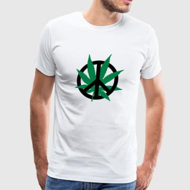 Cannabis Peace Cannabis Peace - Men's Premium T-Shirt