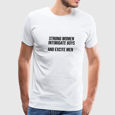 Strong Woman BDSM bondage Devot Submissive gift - Men's Premium T-Shirt