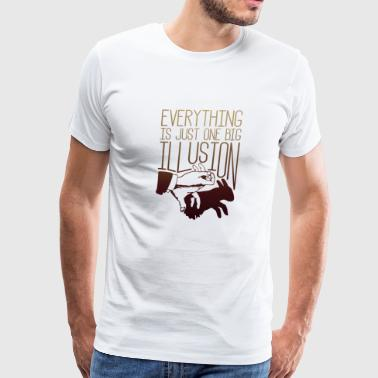 One Big Illusion - Illusion - Total Basics - Men's Premium T-Shirt