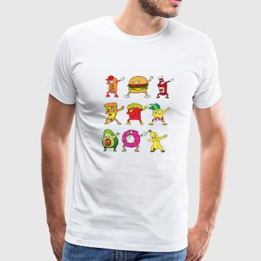 Dabbing Dab Pizza Burger Hot Dog Donut Pineapple - Men's Premium T-Shirt