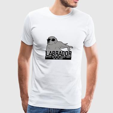 Labrador. Official Dog of the Coolest People on th - Men's Premium T-Shirt