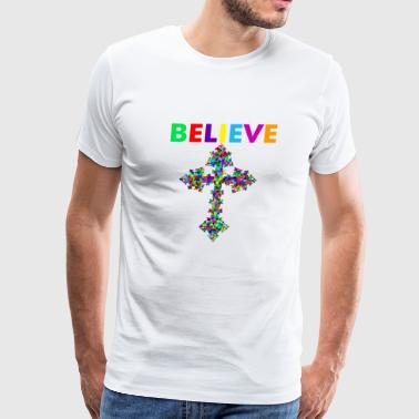 Believe in Christ - Men's Premium T-Shirt