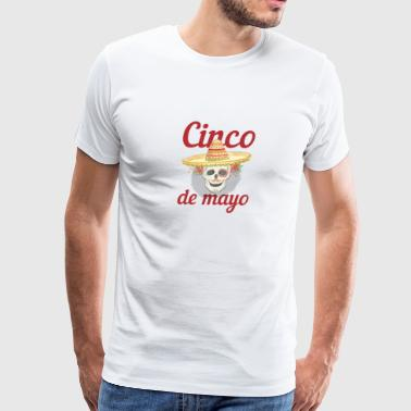 Cinco de Mayo Festivities Skeleton in Sombrero Mexican Independence - Men's Premium T-Shirt