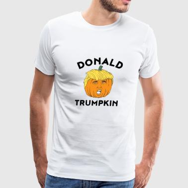 Donald Trumpkin make halloween great again t shirt - Men's Premium T-Shirt