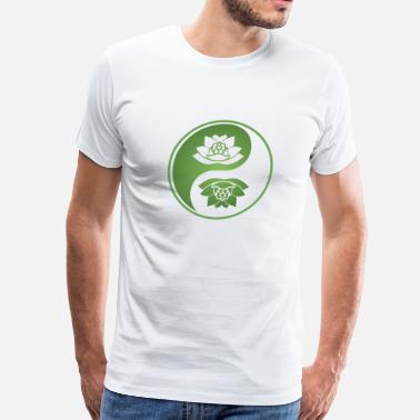Lotos Yin yang with lotos - Men's Premium T-Shirt