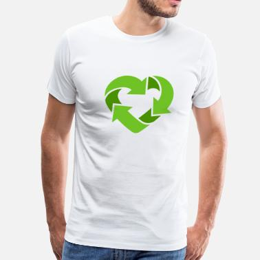 Gays Gang Bang Recycling Heart (dd print) - Men's Premium T-Shirt