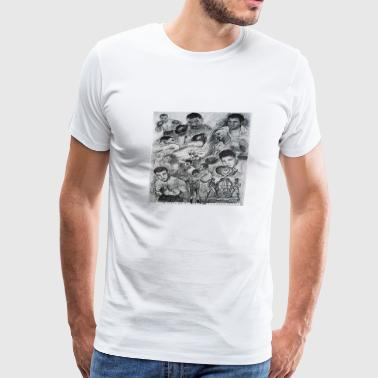 Boxing Legends by © Colin Carr-Nall  - Men's Premium T-Shirt
