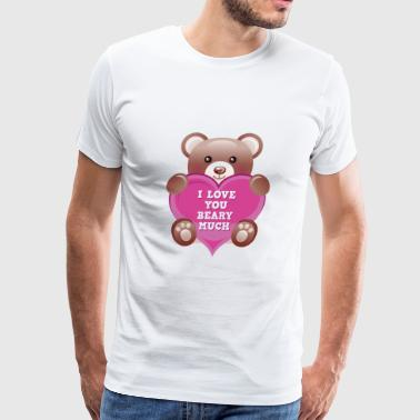 I Love You Beary Much - Men's Premium T-Shirt