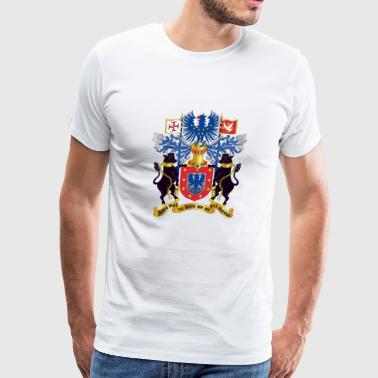 Arma Azorean Coat of Arms (Brasão de Armas dos Açores) - Men's Premium T-Shirt