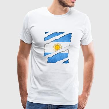 Argentina National Flag Fan Shirt Vamos Futbol Tee - Men's Premium T-Shirt