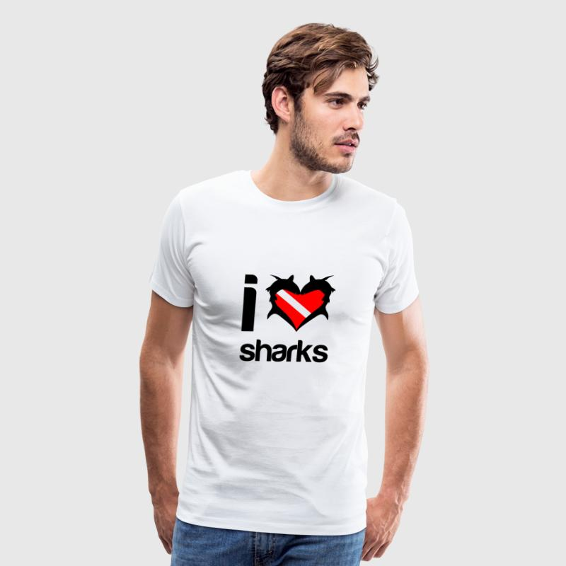 I Love Sharks - Men's Premium T-Shirt