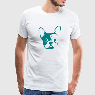 Bulldogs Draw Head of a bulldog  - Men's Premium T-Shirt