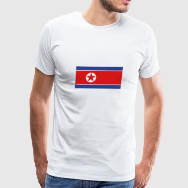 North Korea Flag - Men's Premium T-Shirt