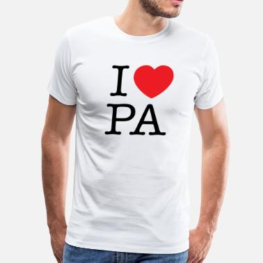 I Love Pittsburgh I Love Pennsylvania T-shirt - Men's Premium T-Shirt