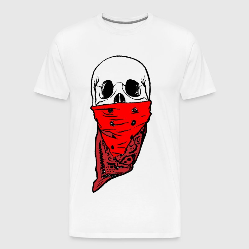 Skull Bandana Head - Men's Premium T-Shirt