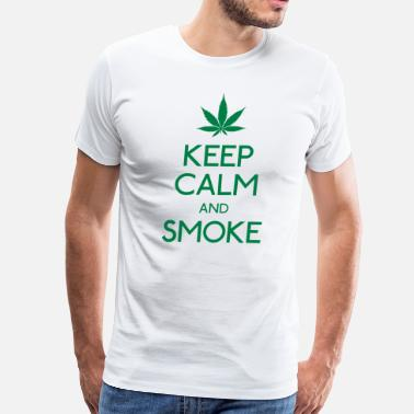 Smoke keep calm and smoke - Men's Premium T-Shirt