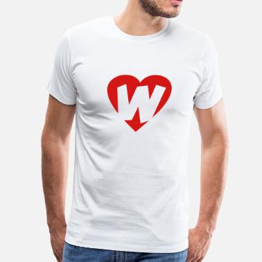 Wesley Willis I love W - Heart W - Letter W - Men's Premium T-Shirt