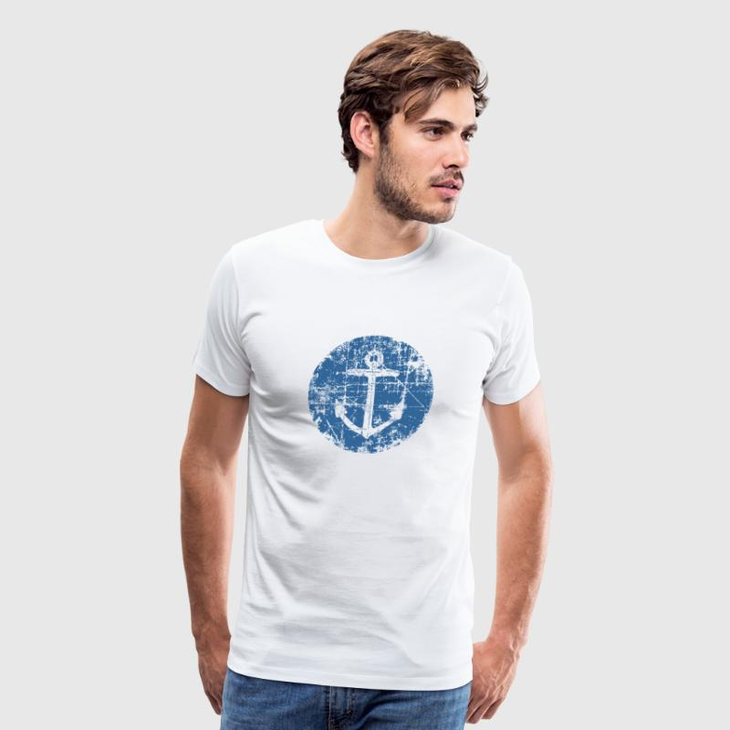 Anchor Sign Sailing Design for Sailors - Men's Premium T-Shirt