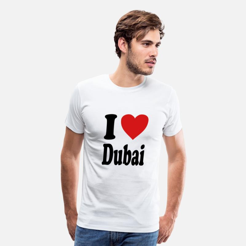 Love T-Shirts - I love Dubai (variable colors!) - Men's Premium T-Shirt white