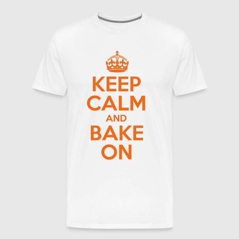 Keep Calm and Bake On - Men's Premium T-Shirt