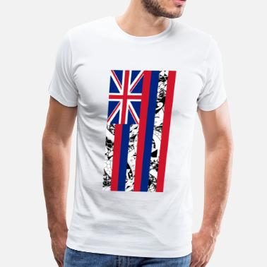 State Flag Hawaiian State Flag - Vertical - Men's Premium T-Shirt