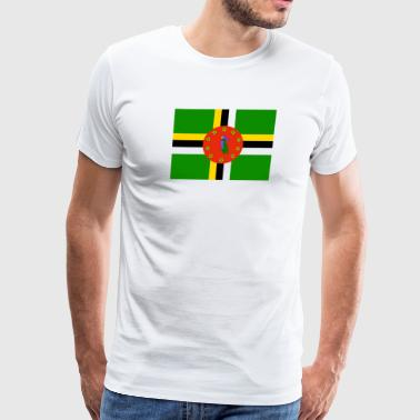 Bandera Flag of Dominica (dm) - Men's Premium T-Shirt