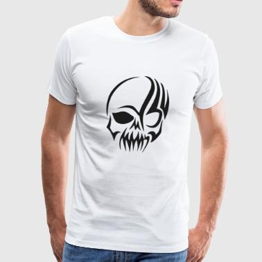 Bleach Tribal Skull Design - Men's Premium T-Shirt