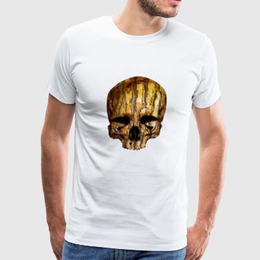 skull / Skull with tree bark - Men's Premium T-Shirt