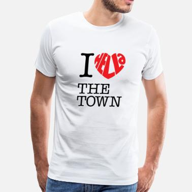 Hella Oakland I Hella Love The Town - Men's Premium T-Shirt
