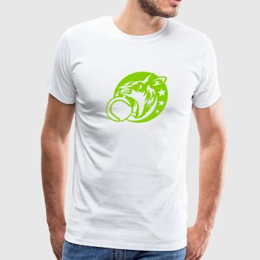 lion logo tennis sports animal 5028 - Men's Premium T-Shirt