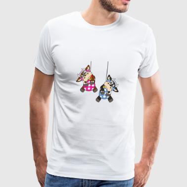 Candle Cows Christmas Tree Ball Ornaments Xmas Gifts - Men's Premium T-Shirt