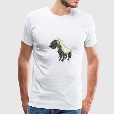 Sheep Cartoon Sheep Comic Cool Funny Cute Wolf Sheep Lamb - Men's Premium T-Shirt