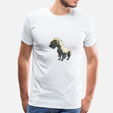 Sheep Comic Cool Funny Cute Wolf Sheep Lamb - Men's Premium T-Shirt