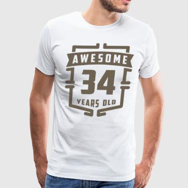 Awesome 34 Years Old - Men's Premium T-Shirt