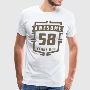 Awesome 58 Years Old - Men's Premium T-Shirt