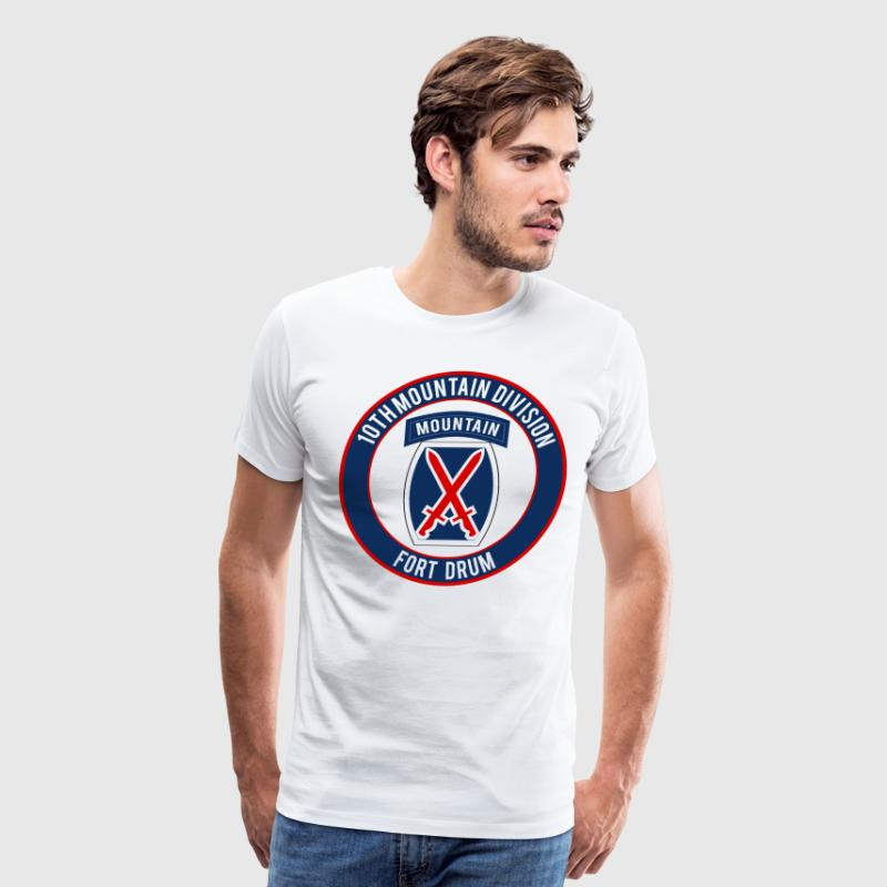 10th Mountain Ft Drum - Men's Premium T-Shirt