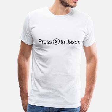 Heavy Rain Press 'x' to Jason (Heavy Rain) - Men's Premium T-Shirt