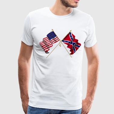 american civil war flags - Men's Premium T-Shirt