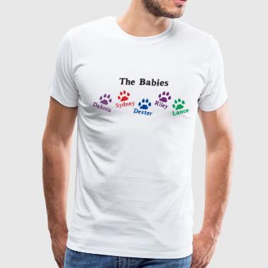 Personalized Dog Cat Pet Pet Names Paws Mommy Mom - Men's Premium T-Shirt