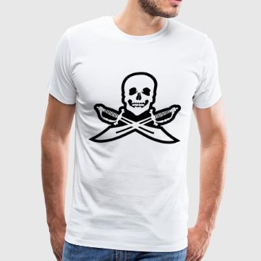 Sword Pirate Pirate flag - Men's Premium T-Shirt