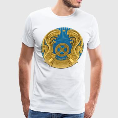 Gerb Kazakhstan Coat of Arms Flag USSR - Men's Premium T-Shirt