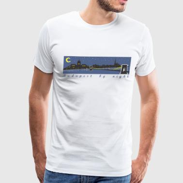 Budapest by night - Men's Premium T-Shirt