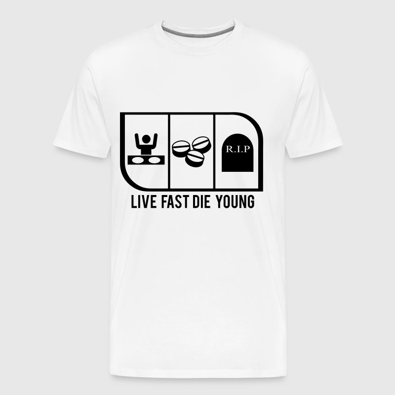 Completely new LIVE FAST DIE YOUNG by HattonGraphics | Spreadshirt VB36