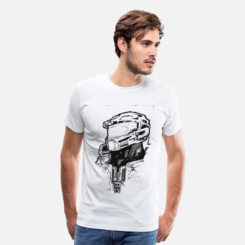Halo T-Shirts - Masterchief - Men's Premium T-Shirt white