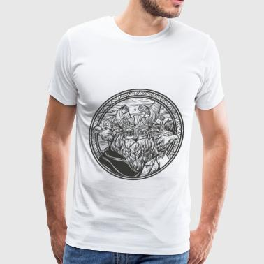 Odin and his ravens - Men's Premium T-Shirt