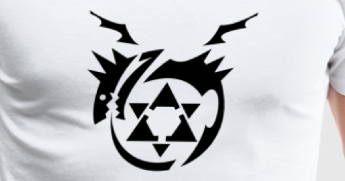 Black Homunculus Symbol Fullmetal Alchemist T Shir By Anony